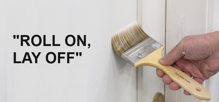 laying off paint