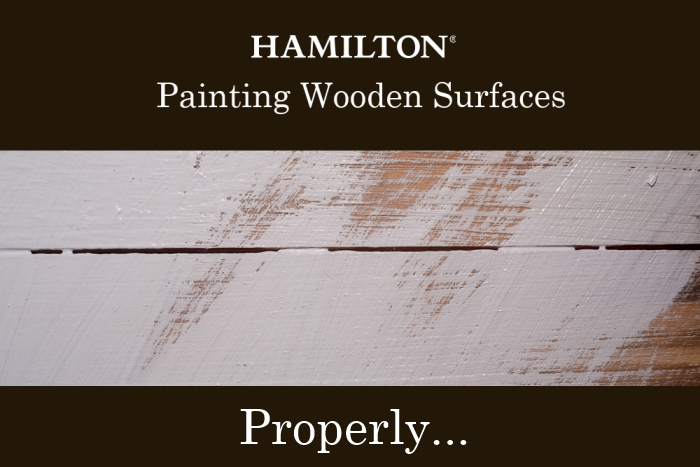 Painting wooden surfaces