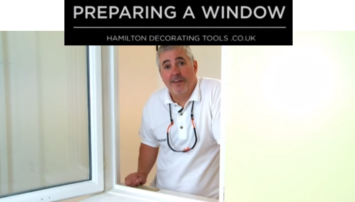 Preparing a window to paint