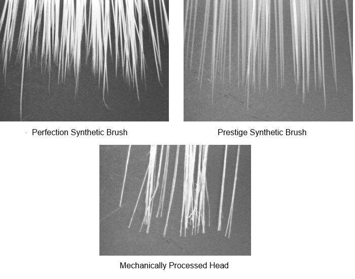 synthetic paint brush heads